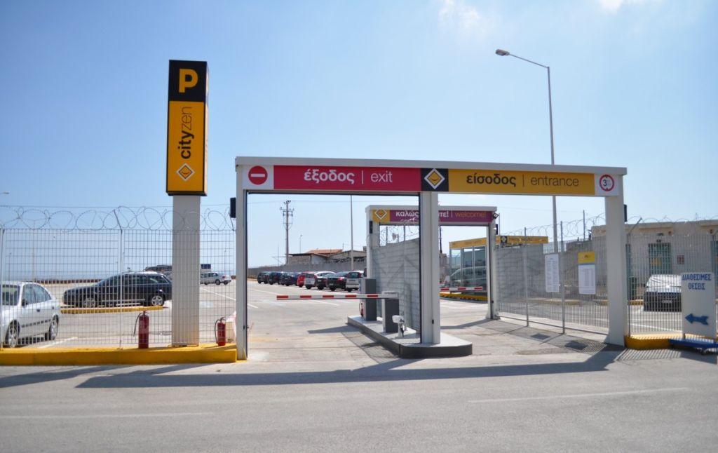 οικονομικό parking μέσα στο λιμάνι του Λαυρίου
